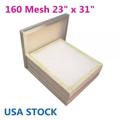 Usa - 6pcs Aluminum Silk Screen Frame - 160 Mesh 23 X 31 White Color Mesh