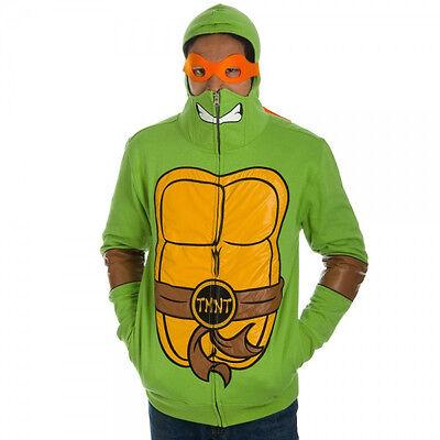 Teenage Mutant Ninja Turtles Tmnt Costume Interchange Mask Hoodie Jacket Shirt