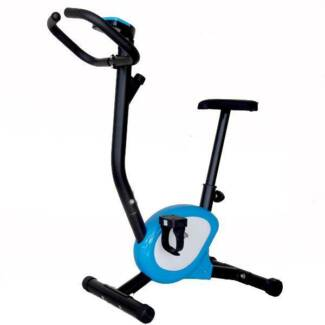 Adjustable Resistance & Height Belt Drive Exercise Bike Home Gym