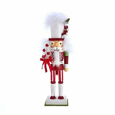 Kurt Adler 17.5-inch Hollywood Red and White with Tree Nutcracker