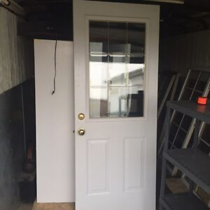 Insulated steel front door