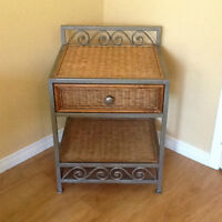 Rattan dresser and night table