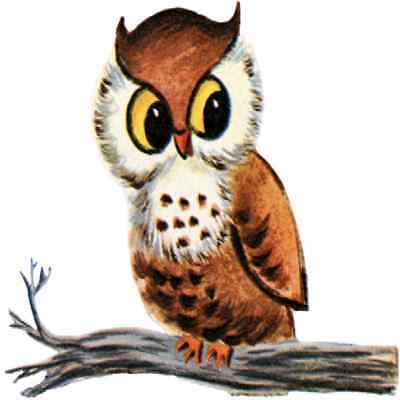 30 Custom Retro Owl Personalized Address Labels