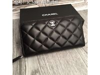 Chanel new with tags leather large wallet