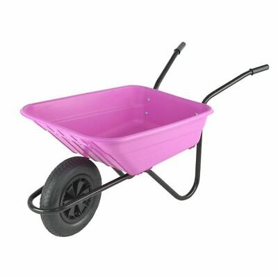Walsall Shire 90 Litre Polypropylene Wheelbarrow Pink (COLLECTION ONLY)