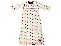 Matching baby sleeping bag and cot bumper NEW - by Carla
