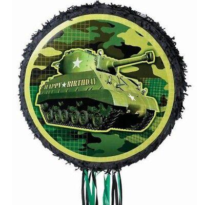 Panzer-Pinata für Camouflage-Mottoparty oder Tarnfarben Kindergeburtstag Spiele