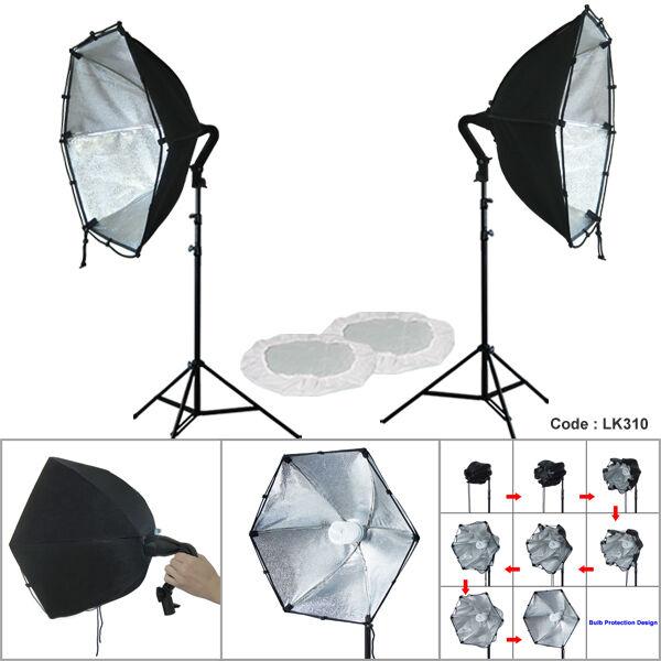 Linco 2 Softbox Studio Video Photo Lighting Photography Light Kit