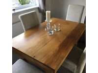 Solid mango dining table & 4 chairs