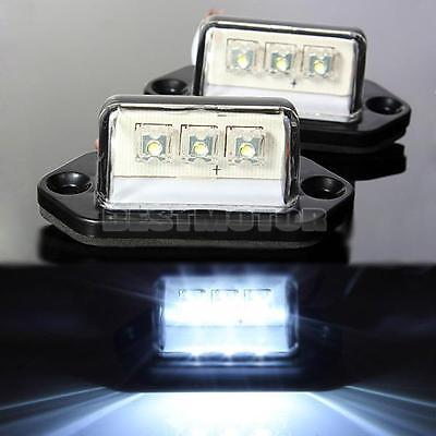 2 pcs 3 LED REAR LICENSE NUMBER PLATE LIGHT LAMP TRUCK CARAVAN TRAILER 12V 24V