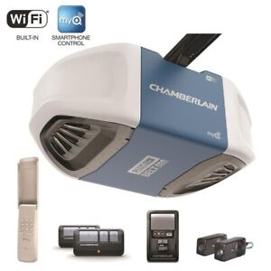 CHAMBERLAIN 3/4HP WIFI BELT GARAGE DOOR OPENER INSTALLED $340