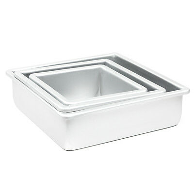 6 Inch Cake Pan (Fat Daddio's Cake Baking Pan Set of 3 Square 3 Inches Even (6
