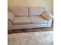 4 seater & 3 seater sofa with storage foot stool (less than 6 months old)