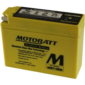 New MOTOBATT BATTERY for SUZUKI TR50 Street Magic MBT4BB