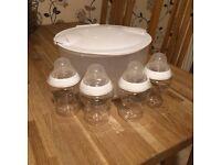 Tommee tippee steriliser and bottles