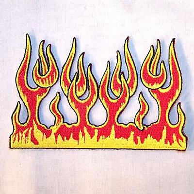 - WALL OF FLAMES FIRE EMBROIDERED PATCH P351  Iron on biker JACKET patches NEW