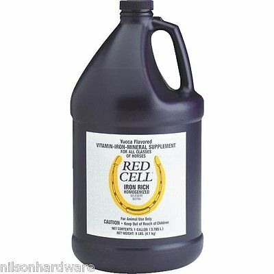 4 Pack Farnam 1 Gal Red Cell Vitamin/Mineral Iron Horse Feed Supplement 74110
