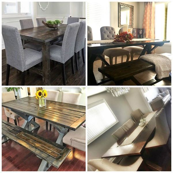 Foyer Table Kijiji Toronto : Custom made reclaimed wood furniture dining tables and