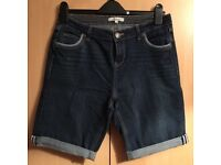 Navy Knee Length Jean Shorts. Size 12, from Peacocks.