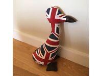 WISH Union Jack design doorstop - DUCK - Great for British themed events too
