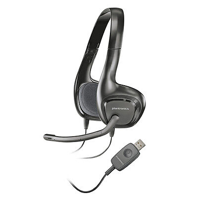 Plantronics Audio 622 Binaural USB Stereo NC Lightweight PC Headset Bulk Package