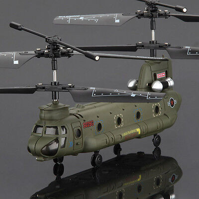 Syma S026G 3CH+GYRO 3.5 Channel Chinook Army Style RC Remote Control Helicopter on Rummage