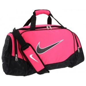 NIKE Brasilia Gym Bag (black & pink)
