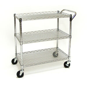 New Utility Cart Seville Classics Steel Wire Kitchen