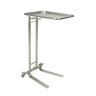 Foot-operated Stainless Steel Mayo Stand With Extra-large Tray Tray Size 2...