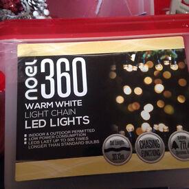 360 warm white Christmas tree lights