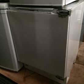 White prima integrated undercounter freezer good condition with guarantee