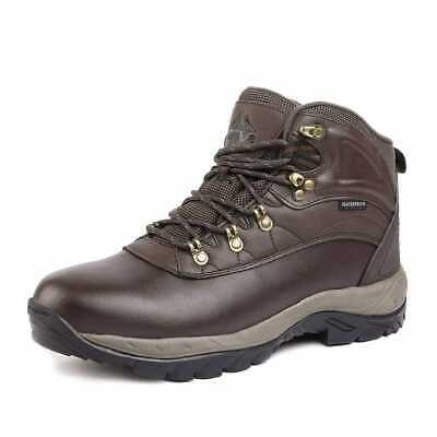 NORTIV 8 Mens Waterproof size 12 Snow Boots Brown Mid Outdoor Hiking Backpacking Mens Casual Backpacking Boots