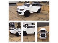 Range Rover Style White Or Red, Parental Remote & Self Drive