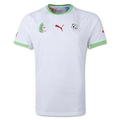 2014-2017 Mens Algeria National Team World Cup Sz L white Soccer Football Jersey image