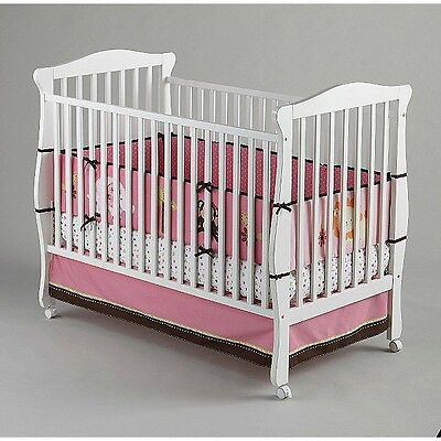 Little Bedding by NoJo Newborn Girl's RASPBERRY JUNGLE 4-Piece Secure Me Bumper ()