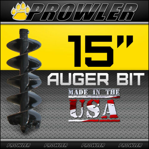 "15"" Auger Bit w/ Round Collar For Skid Steer Loaders 4"