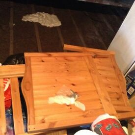 Free Pine cot bed
