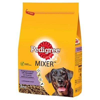 Dog food PEDIGREE CHUM Mixer 3kg Original Dry Kibble Mix With Wet Food Crunchy