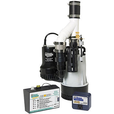 Basement Watchdog Bw4000 - 12 Hp Combination Primary And Backup Sump Pump Sy...