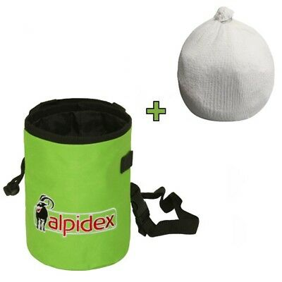 Spar-Paket: Chalkbag HIGHFLY Farbe Green Flash von Alpidex mit Chalk Ball 35 g