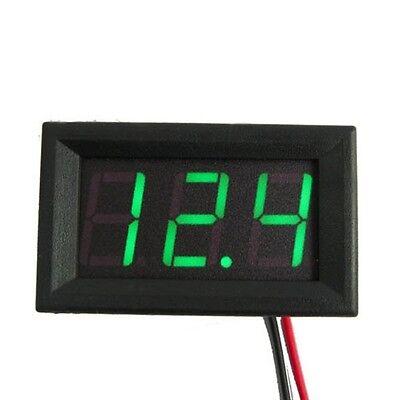 DC 0-30V LED 3-Digital Display Voltage Voltmeter Panel Volt Meter Mini Green