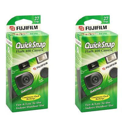2 x Fujifilm Quicksnap Flash 400 Disposable Single Use 35mm Film Camera  11/2020