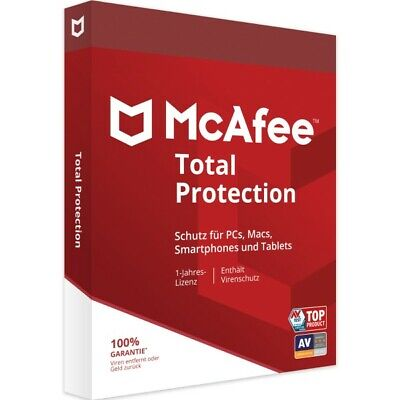McAfee Total Protection 2020 (1, 3, 5, 10 Geräte) 1 Jahr sofort per EMAIL TOP