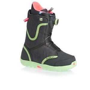 Woman's 9.5 Burton Starstruck Snowboard Boots - Charcoal/mint