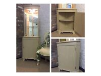 LOVELY HAND PAINTED CORNER UNIT, DISPLAY CABINET