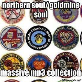 NORTHERN SOUL COLLECTION ON MP3 DISCS