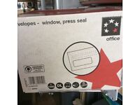 Box 1000 WHITE DL Window ENVELOPES- Self Seal