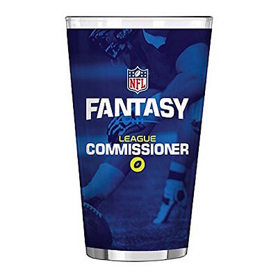 Nfl Fantasy Football Commissioner Sublimated Pint Cup  16 Ounce  New