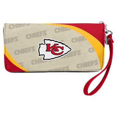 Kansas City Chiefs NFL Women's Curve Zip Organizer Wallet / Purse -