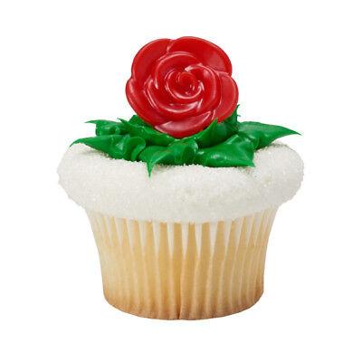 Red Roses Cupcake Rings - 24 Count](Rose Cupcakes)